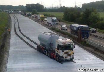 kamion v betone