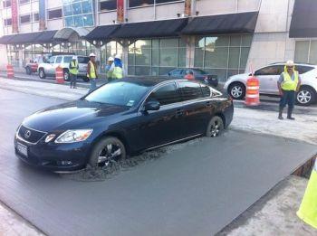 auto v betone
