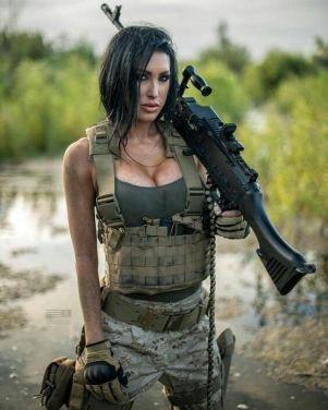 sexi vojak žena