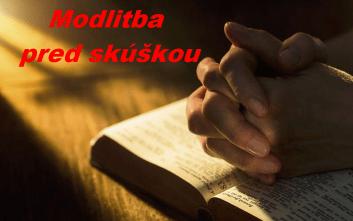 modlitba pred skúškou