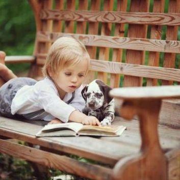 šteniatko a dieťa