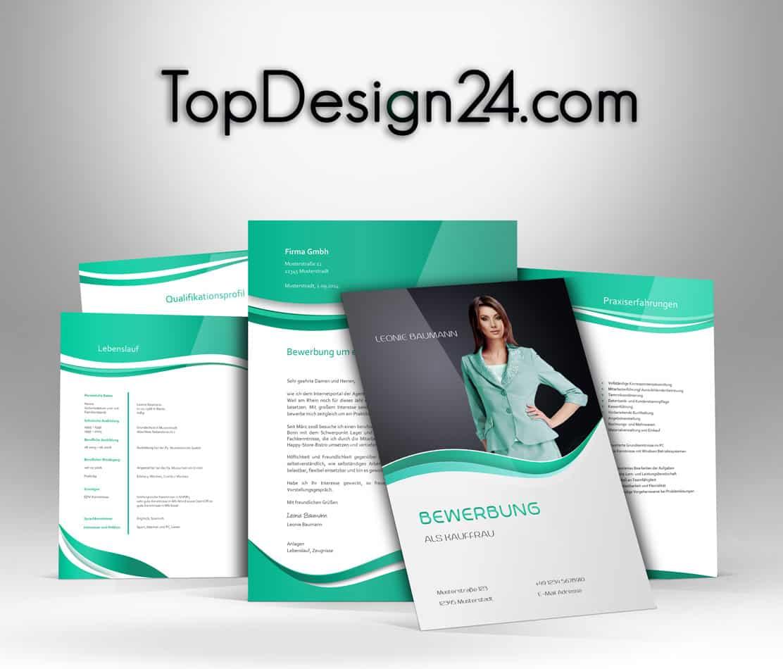 Bewerbungsvorlage – Green-Light – TopDesign24