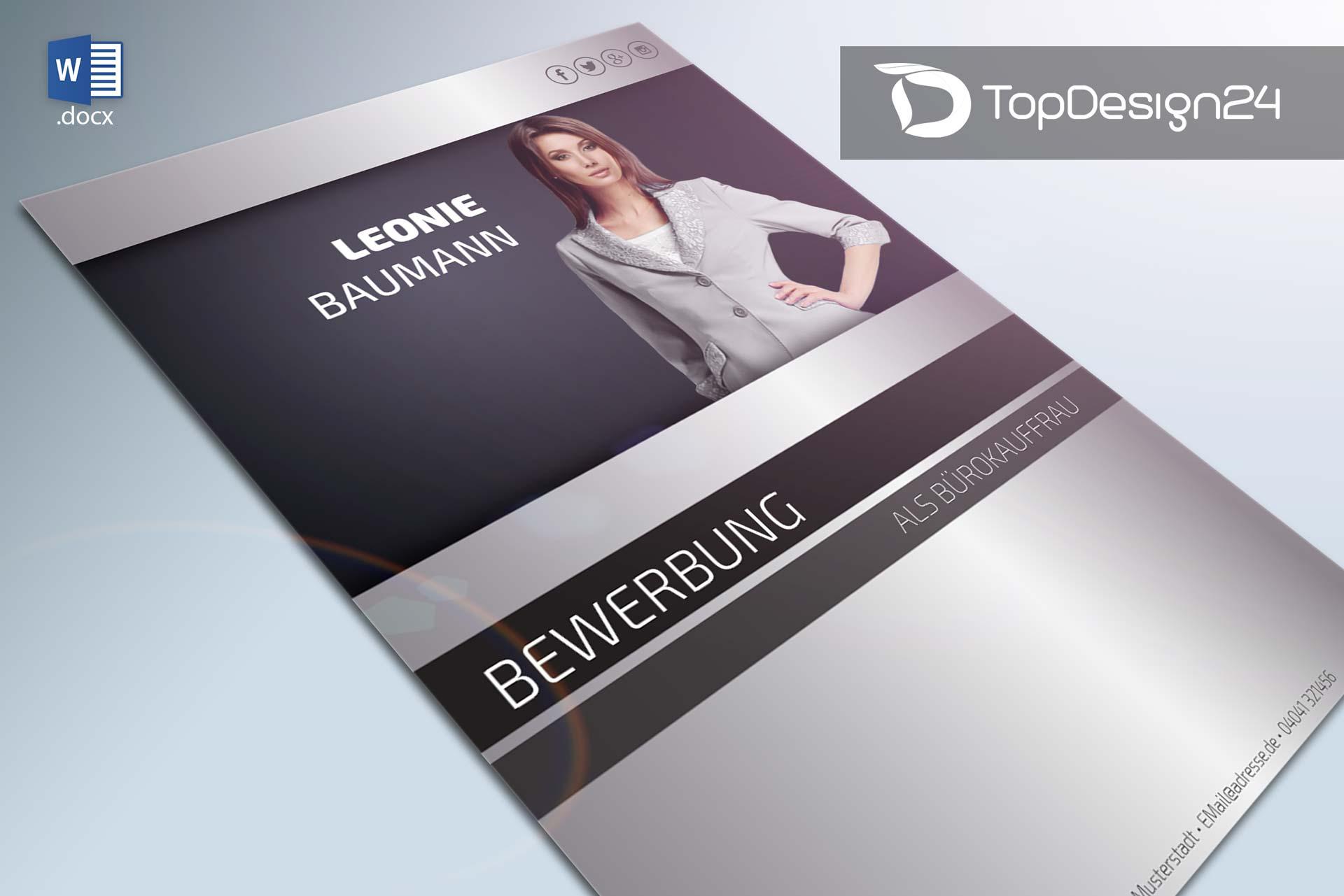 Bewerbungsschreiben vorlage download deckblatt word for Design shop 24