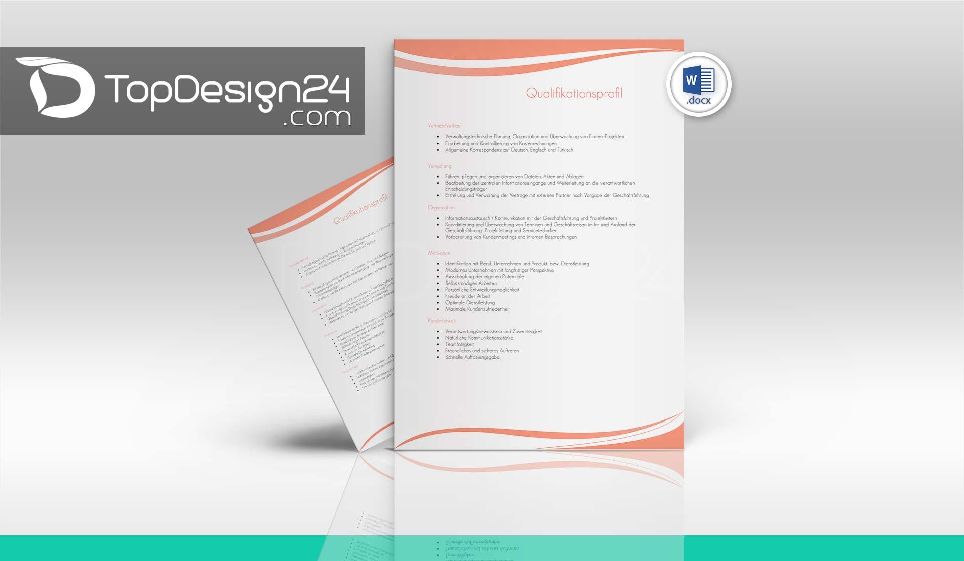 Bewerbung Muster Download - TopDesign24 Deckblatt, Lebe