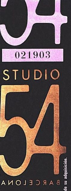 Ticket consumicion Studio 54 Barcelona