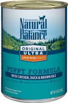 Natural Balance Original Ultra Whole Body Health Wet Puppy Food, Chicken, Duck & Brown Rice