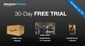 Amazon Prime 30 day free trial