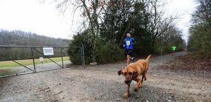 this pup ran a half marathon...by accident