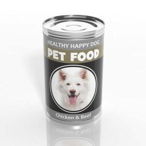 Canned dog food