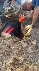 German Shepherd Survives 3 Days In a Sinkhole