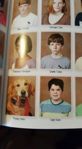Boy and Dog Forever Immortalized in Pages of Yearbook