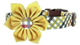 Fall Plaid Dog Collar Flower Attachment