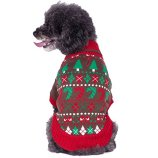 Ugly Christmas Dog Sweater with Bow
