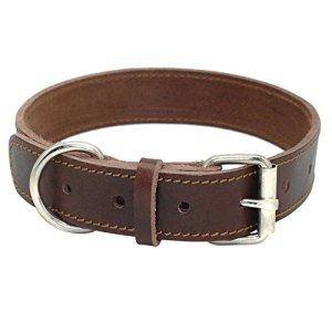 Beirui Genuine Leather Dog Collar