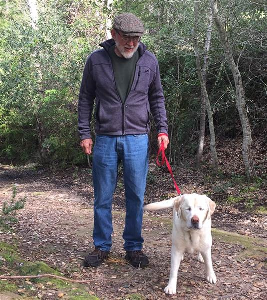 Blind Dog Lost in Woods for 8 Days Rescued by Firefighter