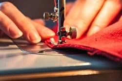 Sewing a DIY dog cooling mat