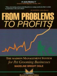 From Problems to Profits: The Madson Management System for Pet Grooming Businesses by Ogle, Madeline Bright, Ph.D. (1997)