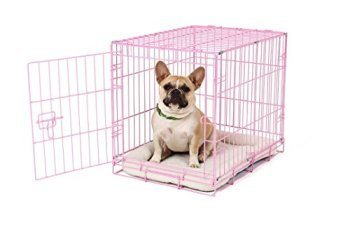 Carlson Pink Secure and Compact Single-Door Metal Dog Crate