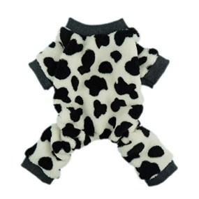 Fitwarm Milk Cows Pet Dog Clothes Velvet Winter Dog Jumpsuit