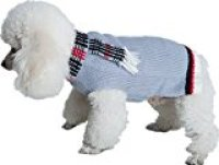 Dog Sweater Cute Puppy Clothes Gray by KOOLTAIL