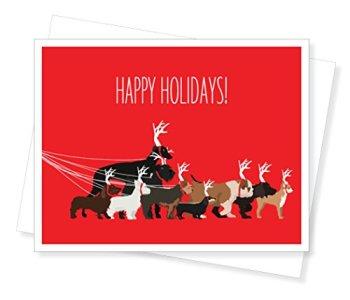 Dog Walk Holiday Christmas Cards