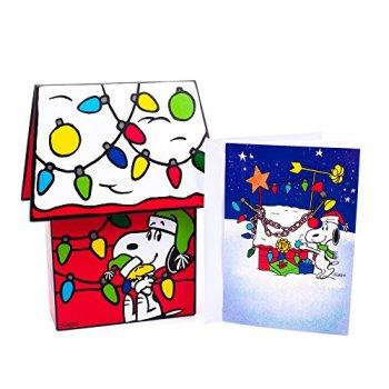 Hallmark Holiday Boxed Cards Snoopy Christmas Doghouse