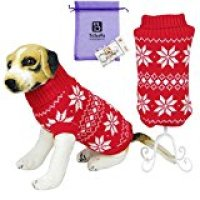 Bolbove Pet Snowflake Knitted Turtleneck Sweater