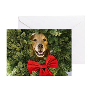 CafePress - Holiday Dog - Greeting Card