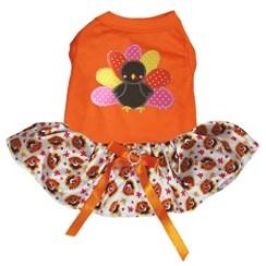 Petitebella Puppy Clothes Thanksgiving Dog Dress