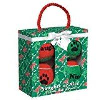 Grriggles Naughty or Nice Tennis Balls for Dogs