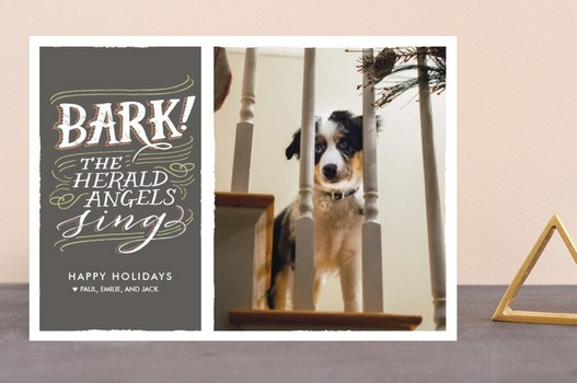 Bark! The Herald Angels Sing Christmas Card