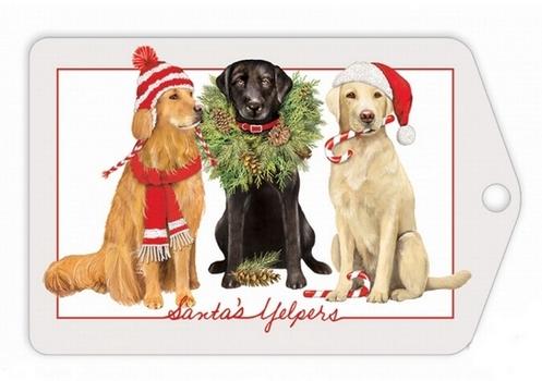 Santa's Yelpers Gift Tags