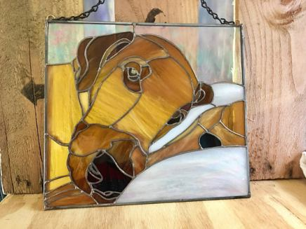 Pet Customized in Stained Glass