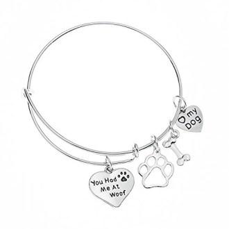 Infinity Collection Dog Charm Bracelet
