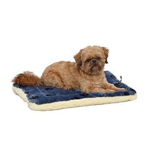 MidWest Pet Products Reversible Paw Print/Fleece Pet Bed