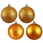 Vickerman Antique Gold Shatterproof 4-Finish Christmas Ball Ornaments