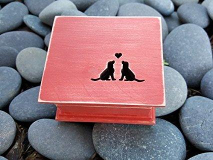 Carved Dog Music Box