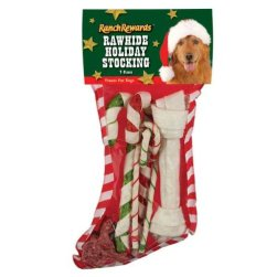 Ranch Rewards Rawhide Holiday Dog Stocking