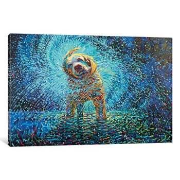 Labrador Jazz Gallery Wrapped Canvas Art Print by Iris Scott