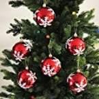 Festive Season Snowflake Shatterproof Christmas Ball Ornaments