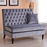 Belleze Modern Button Tufted Settee Bedroom Bench Loveseat