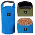 Awakelion Foldable Travel Pet Food Bag and Bowls