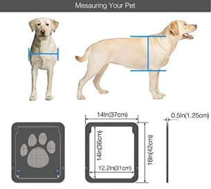 Petetpet Pet Screen Door with Magnetic and Automatic Lock