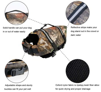 Features of a dog hunting vest
