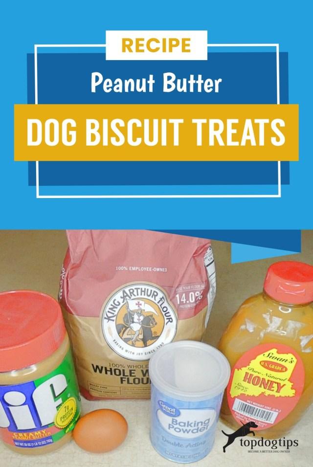 Recipe- Peanut Butter Dog Biscuit Treats
