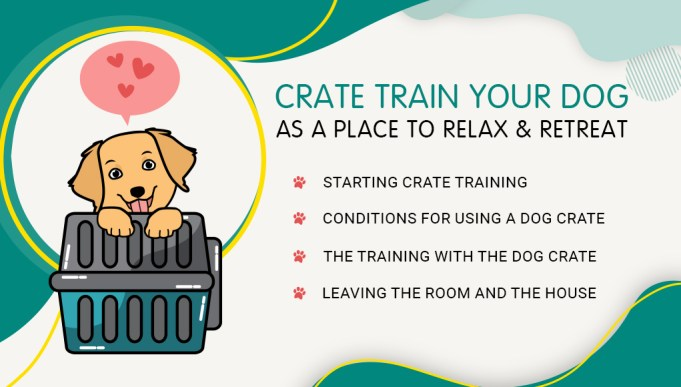 Crate Train Your Dog as a Place to Relax & Retreat