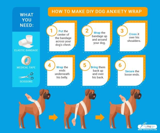 DIY Dog Anxiety Wrap