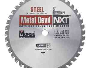 MK Morse 101387 NXT Stainless Steel Circular Saw Blade, 8-Inch Diameter, 5/8-Inch Arbor, 42 Teeth