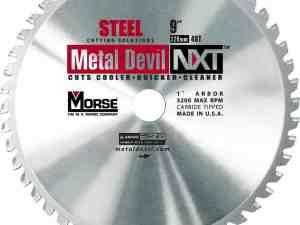 MK Morse 101400 NXT Stainless Steel Circular Saw Blade, 9-Inch Diameter, 1-Inch Arbor, 48 Teeth