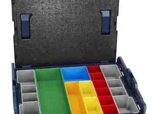 Bosch L-BOXX-1A - 17-1/2 In. x 14 In. x 4-1/2 In. Stackable Carrying Case with 13 Piece Insert Set